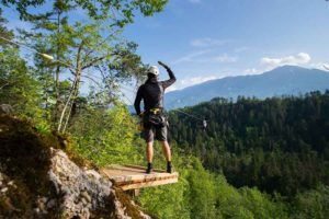 Zipline dolinka in Bled is easy to book and enjoy