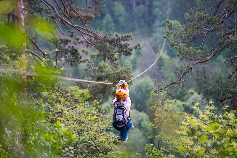 Zipline dolinka in Bled is set in beautiful surroundings